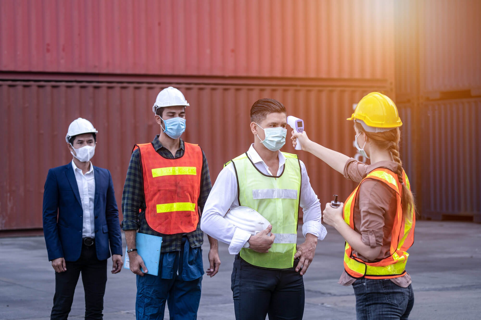 COVID-19 Precautions at a job site